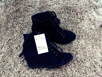Koturny koturny 36 37 kobaltowe niebieskie sneakersy