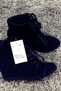 koturny 36 37 kobaltowe niebieskie sneakersy...