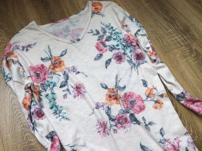 Bluzki Bluzka tunika w kwiaty jak nowa