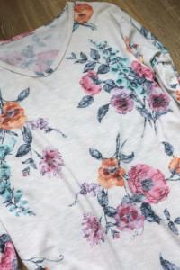 Bluzka tunika w kwiaty jak nowa