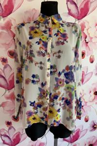 Atmosfere koszula asymetryczna mgiełka kwiaty motyle 34...