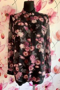 Marks&spencer koszula mgiełka kwiaty róże jak nowa 36...