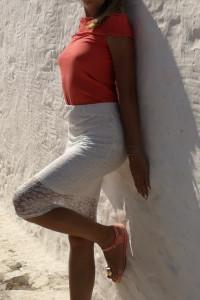biała koronkowa spódniczka...