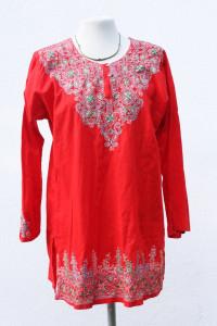 Czerwona bluzka boho...