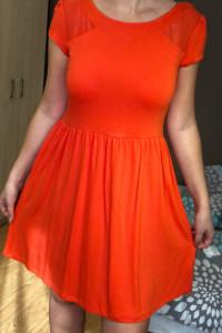 Cudowna nowa sukienka pomarańczowa Dorothy Perkins 40 L siatecz...