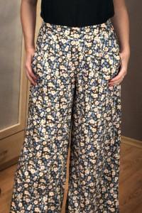 Spodnie wiskoza kwiaty łączka NEW Look 38 M...