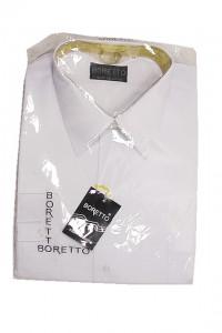 Boretto koszula męska biała z długim rękawem rozm 44