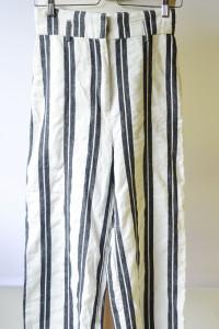 Spodnie Pasy Białe 7 8 H&M XS 34 Proste Nogawki Spódnica...