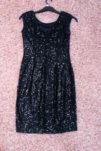 Sukienka czarna w cekiny Reserved