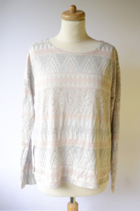 Sweter Oversize Wzory Aztec NOWY L 40 Azteckie Only...