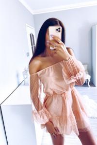 Lekka zwiewna sukienka XS S M