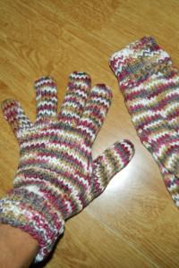 Drywash damskie kolorowe rękawiczki