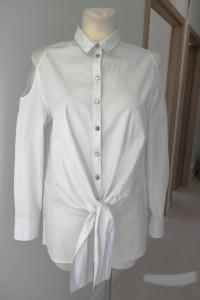 Koszula Biała Wizytowa Biurowa Bluzka Marks Spencer M