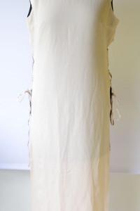 Sukienka Długa NOWA M 38 Pudrowy Róż Sznurki Mała Czarna