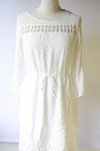 Sukienka Biała NOWA Morgan Ażurowe Elementy Elegancka L 40
