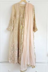 Nowa sukienka tunika indyjska S 36 M 38 zdobiona chusta różowa ...