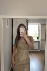 Złota sukienka...