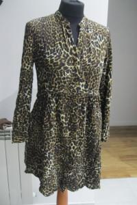 sukienka ZARA panterka xs s