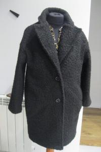 płaszcz oversize M czarny