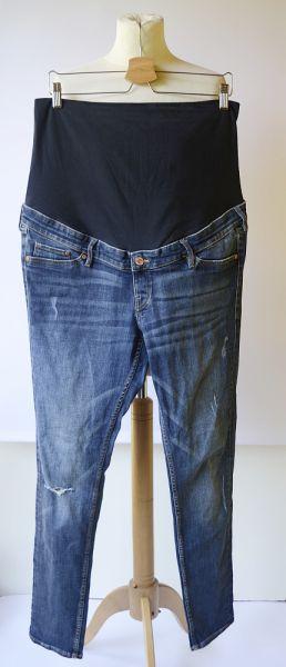 Spodnie Spodnie H&M Mama XXL 44 Przetarcia Skinny Dziury Rurki Jeansy