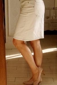 Spódnica dżinsowa biała orsay rozm 36 38 M S...