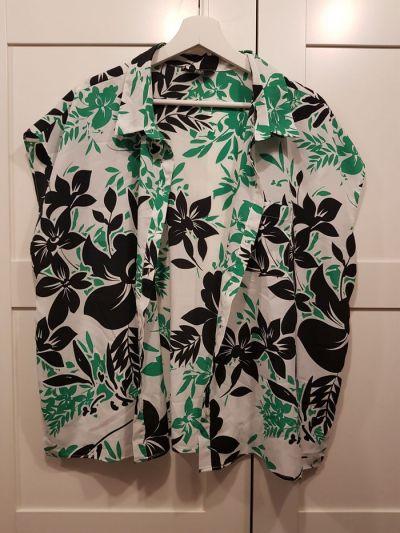 Bluzki Bluzka koszula FF biel zieleń czerń 48