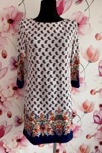 Atmosphere sukienka mini modny wzór kwiaty floral hit 40
