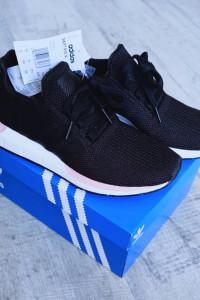 Adidas Swift Run W sneakersy adidasy czarne białe sport szkoła ...