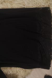Czarna bluzka z koronką Plus Size rozmiar 5658...
