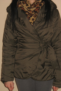 Brązowa kurtka wiązana Mosquito XS S 34 36...