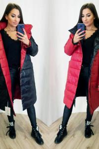 Dwustronny płaszcz czarny czerwony...