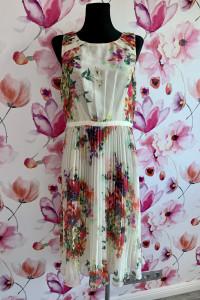 Papaya sukienka midi plisowana kwiaty floral hit 42...