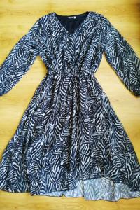 Sukienka zebra midi B&K 44 XXL