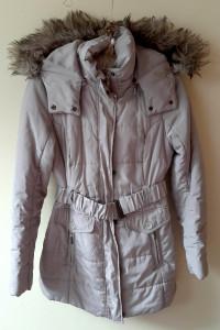 Płaszcz kurtka beżowy zimowy Camaieu M