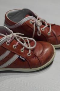 Hugotti skórzane czerwone buciki 25...