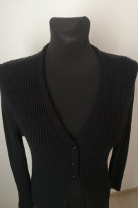 Sweter narzutka kardigan czarny rozmiar S...