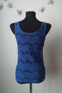 Niebieski koronkowy top bluzka ONLY r M 38