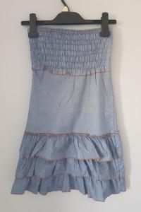 Jeansowa sukienka country...