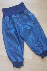 Jeansowe spodnie haremki...