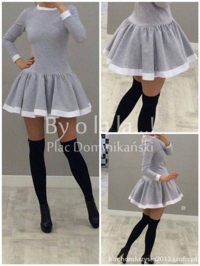 Suknie i sukienki Sukienka by o la la s siwa
