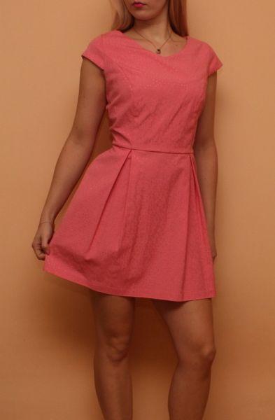 Suknie i sukienki Łososiowa Sukienka L