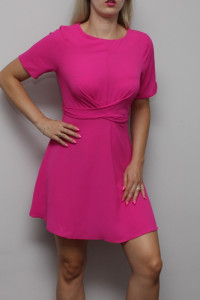 Różowa Zwiewna Sukienka M...