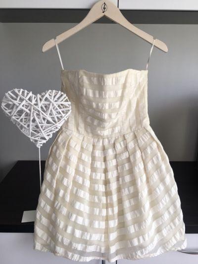 Suknie i sukienki Topshop Krótka Sukienka Ecru