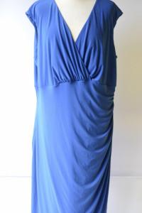 Sukienka Kobaltowa Ralph Lauren 4XL 48 Kopertowa...