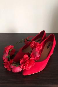 Czerwony Wianek Kwiaty