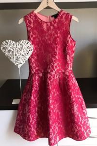 Różowa Koronkowa Sukienka...
