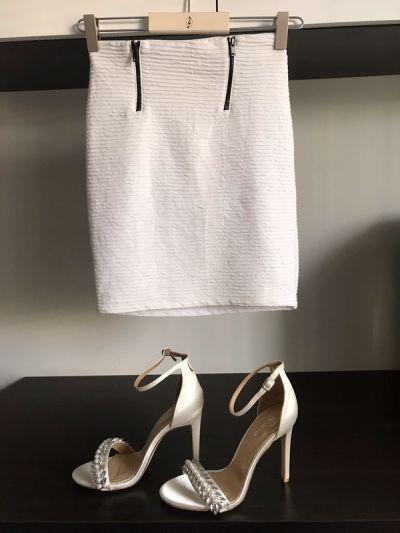 Spódnice Biała Obcisła Spódnica