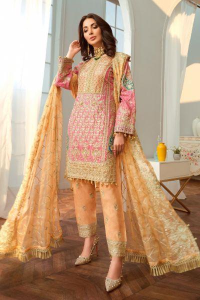 Komplety Nowy indyjski strój S 36 salwar kameez dupatta ślub Bollywood kolorowy spodnie tunika