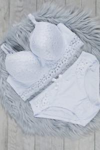 Nowy komplet bielizny biały 75B figi M