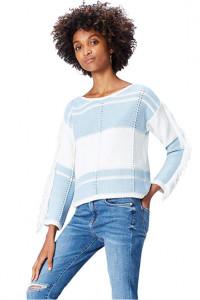 Ekstrawagancki sweter z frędzlami...